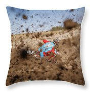 Mud Action Throw Pillow