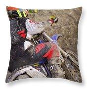 Mud Mayhem Throw Pillow