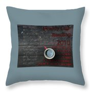 Muddy Cup New Paltz Throw Pillow