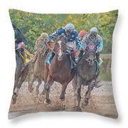 Muddy Turn Throw Pillow