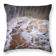 Muddy Waterfall Throw Pillow
