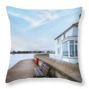 Mudeford - England Throw Pillow