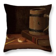 Mug Book Biscuits And Match Throw Pillow