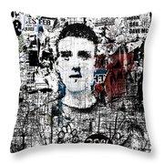 Mugshot 3 Throw Pillow