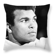 Muhammed Ali (b. 1942) Throw Pillow by Granger