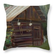 Mulberry Farms Grainery Throw Pillow