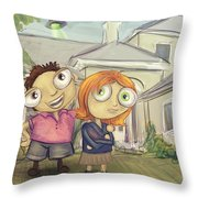 Mulder And Scully In Acadia Throw Pillow