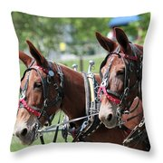 Mules Day 2016 Throw Pillow