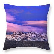 Mulhacen And Alcazaba At Sunset Throw Pillow