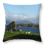 Mull And The Trossachs From Iona Throw Pillow