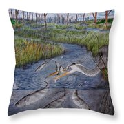 Mullet Creek Throw Pillow