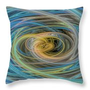 Multi Color Line Art Blue Yellow Gray Green Throw Pillow