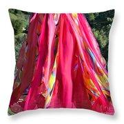 Multi-color Pink Skirt. Ameynra Design Throw Pillow