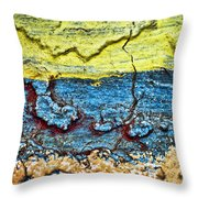 Multi-color Wall Throw Pillow by Ray Laskowitz - Printscapes