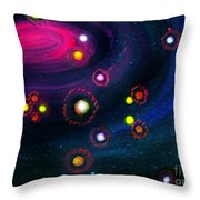 Multi-colored Constellation  Throw Pillow