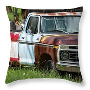 Multi-colored Ford Throw Pillow