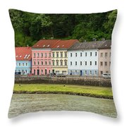 Multi-colored Structures Throw Pillow