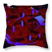 Multi Dimensional Martian Machine Throw Pillow