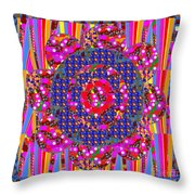 Multi Layered Colorful Flowers Christmas Wreath Style By Navinjoshi At Fineartamerica  Throw Pillow