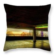 Multi-storey Sunset Throw Pillow