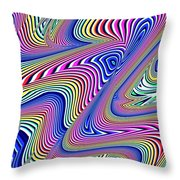 Multicolor Swirls Throw Pillow