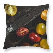 Multicolored Cherry Tomatoes Throw Pillow