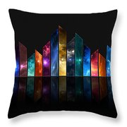 Multicolored Crystals - 479 Throw Pillow