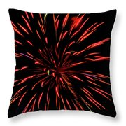 Multicolored Fireworks 2 Throw Pillow