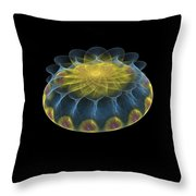 Multicolored Fractalart-2 Throw Pillow
