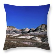 multicolored hills in Petrified Forest National Park Throw Pillow