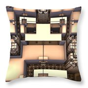 Multidimensional Rooms Throw Pillow