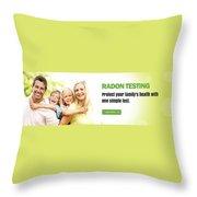 Multifamily Radon Testing Throw Pillow