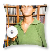 Multimedia Buff Or Computer Geek Throw Pillow