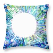 Multimedia Screen And Graphic Design Throw Pillow