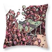 Multiplayer Ping Pong Throw Pillow