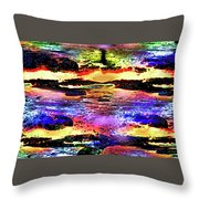 Multiple Underwater Sunsets Throw Pillow