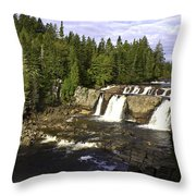 Multiple Waterfalls Throw Pillow by John Holloway