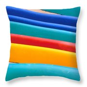 Multitude Of Surfboards Throw Pillow