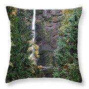 Multnomah Falls - 5 Throw Pillow