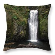 Multnomah Falls 2 Throw Pillow