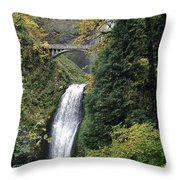 Multnomah Falls 3 Throw Pillow