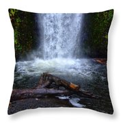 Multnomah Falls 5 Throw Pillow