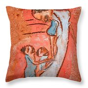 Mum 3 - Tile Throw Pillow