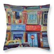 Mumbai Business District  Throw Pillow