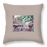 Mumbai Market Throw Pillow