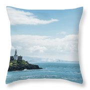 Mumbles Lighthouse 2 Throw Pillow