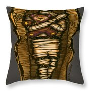 Mummy And Teddy Throw Pillow