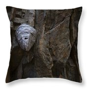 Mummy Head Throw Pillow by Barbara Schultheis