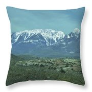 Mummy Mountain Throw Pillow