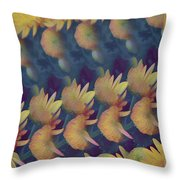 Mums Abstract Design  Throw Pillow
